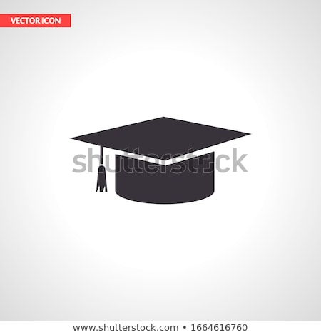 Bordo CAP escuela pizarra tiza Foto stock © romvo