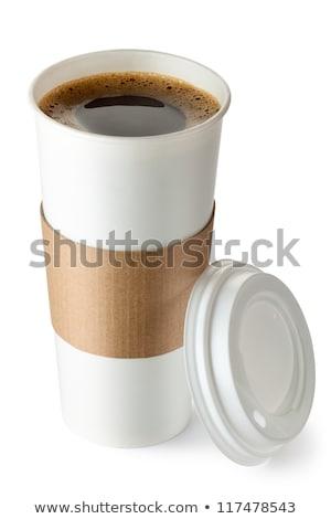 Drinken beker koffie werk voorraad foto Stockfoto © nalinratphi