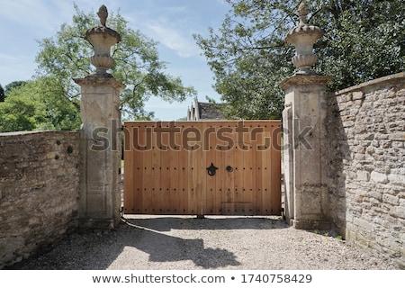 Wood Gate in Trees Stock photo © rhamm