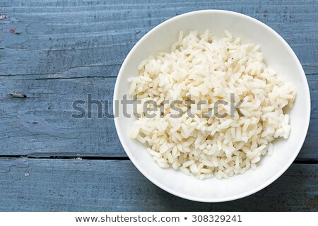 Pişmiş beyaz pirinç doku gıda Stok fotoğraf © dezign56