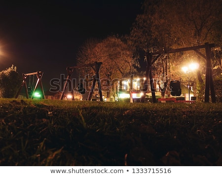 Verlassen Spielplatz dunkel Tag spielen einsamen Stock foto © FOKA