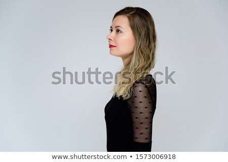 portrait of beautiful glamor girl with dark eye make up in the f stock photo © vlad_star