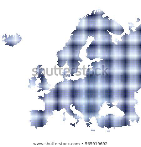 Hırvatistan · siyasi · harita · Zagreb · önemli - stok fotoğraf © istanbul2009