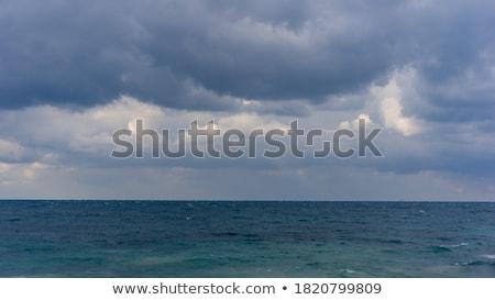 nehéz · eső · viharos · óceán · égbolt · víz - stock fotó © meinzahn
