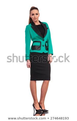 年輕 商界女強人 常設 看 相機 辦公室 商業照片 © feedough