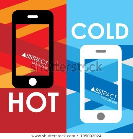 赤 · 電話 · 電話 · 手 · セット - ストックフォト © anterovium