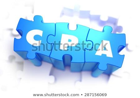 Branco palavra azul custo por venda Foto stock © tashatuvango