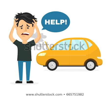 Man standing near breakdown car  Stock photo © deandrobot