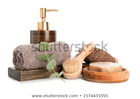 banyo · ahşap · sıcak · duş - stok fotoğraf © kariiika