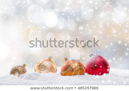 Christmas płatki śniegu drewna kopia przestrzeń puszka używany Zdjęcia stock © Valeriy