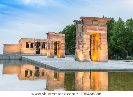 carré · Madrid · Espagne · la · statue · maison - photo stock © vichie81