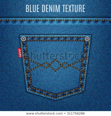 Blauw denim zak paar oude jeans Stockfoto © Bigalbaloo