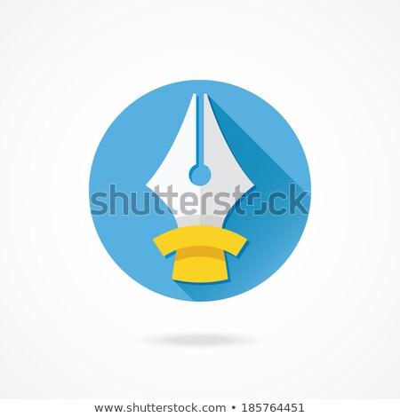 Ink Pen Yellow Vector Icon Button Stock photo © rizwanali3d