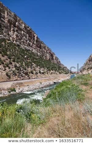 Eroded Basalt in a River Canyon Stock photo © wildnerdpix