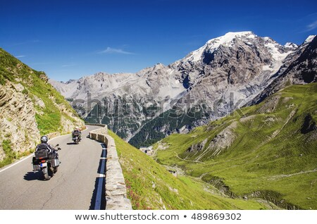 motorcyclist riding on meadow Stock photo © Paha_L