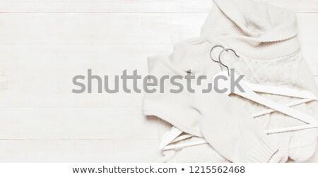 レトロな 布 ハンガー 素朴な 木製 先頭 ストックフォト © stevanovicigor