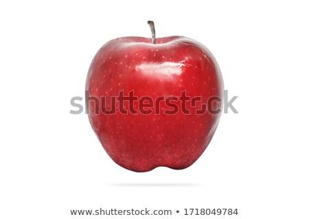 fresco · maçã · vermelha · fatias · isolado · branco - foto stock © elisanth