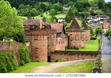 Stock photo: old city wall in Buedingen