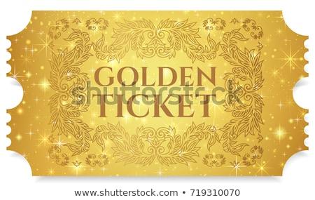 geïsoleerd · gouden · papier - stockfoto © get4net