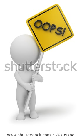 3d small people - oops Stock photo © AnatolyM