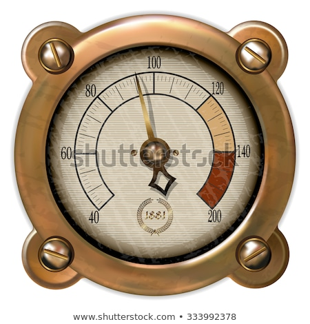 Rusty old pressure gauge. Stock photo © lucielang