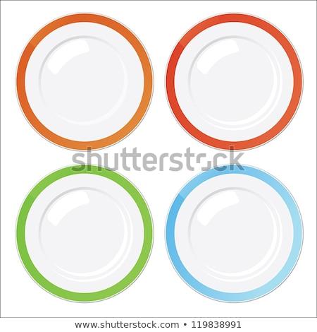 Set of four dinner plates Stock photo © Digifoodstock