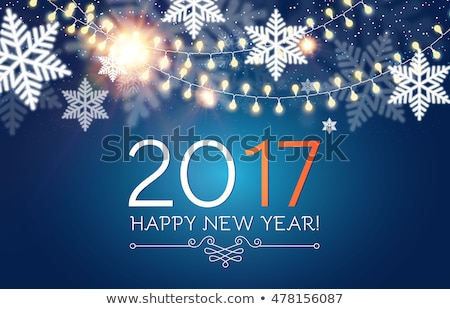 abstract 2017 glowing background for holiday season Stock photo © SArts