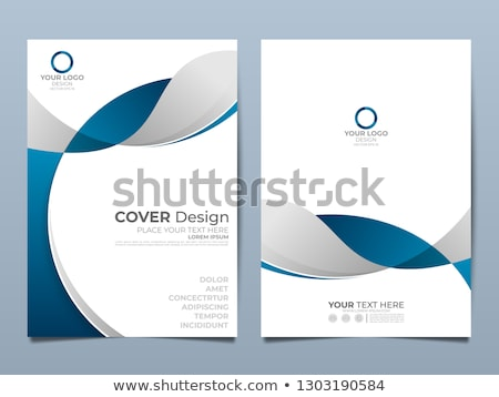 blue advertising banner poster voucher design template Stock photo © SArts