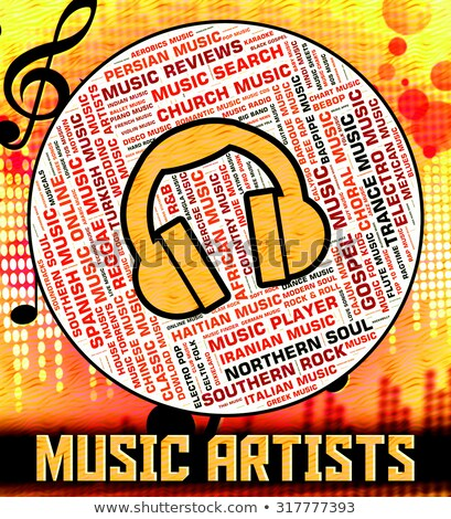 Music Artists Represents Sound Track And Audio Stock photo © stuartmiles