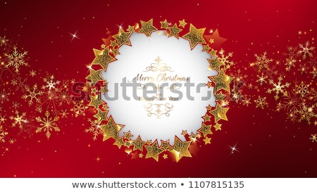 Christmas card with some decoration Stock photo © orson