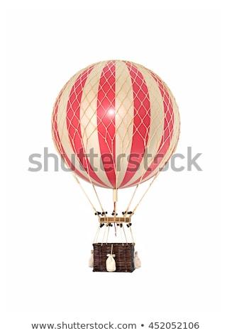 Oude vintage luchtballon ladder geïsoleerd Stockfoto © sharpner