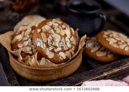 Dolce appetitoso cookies fresche bianco gruppo Foto d'archivio © simply