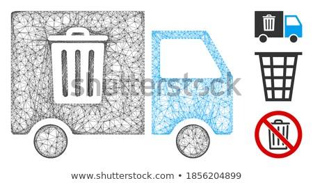 мусор транспорт ван икона серый пиктограммы Сток-фото © ahasoft