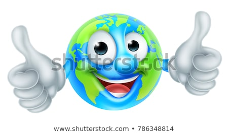 Cartoon Character World Earth Day Thumbs Up Mascot Stock photo © Krisdog