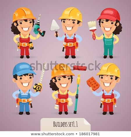 vrouwelijke · monteur · loodgieter · moersleutel · klusjesman - stockfoto © krisdog