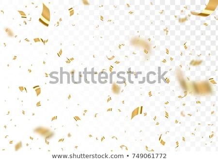 confetti tinsel design white transpaent Stock photo © romvo