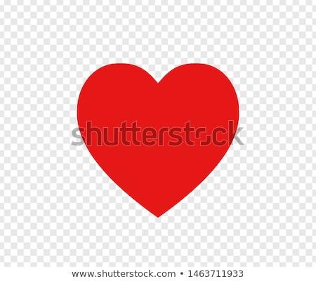 Amore cuore trasparente bella ombra rosso Foto d'archivio © romvo