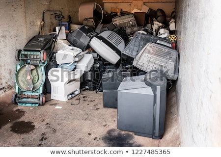 Old electrical appliances waiting to be recycled Stock photo © Kzenon