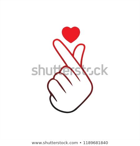 gesture  finger heart Korean love sign Stock photo © Olena