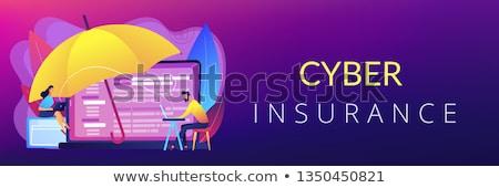 vector · manos · ladrón · arma · laptops · Screen - foto stock © rastudio
