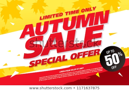 Autumn Season Clearance Sale Banners with Leaves Stock photo © robuart