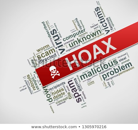 Illustration of hoax wordcloud tag Stock photo © nasirkhan