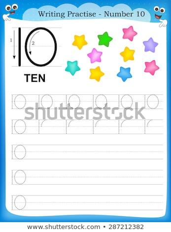 Escrever número dez ilustração fundo arte Foto stock © colematt
