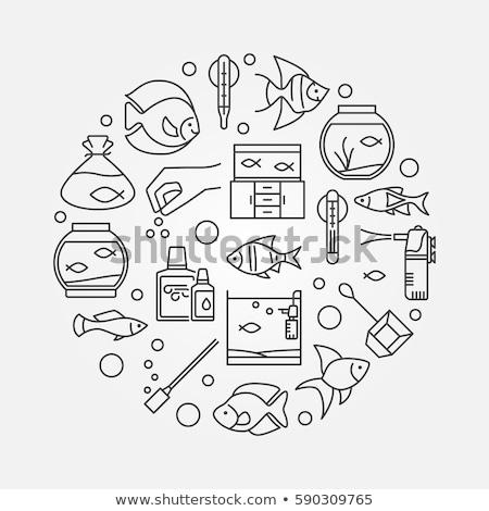 oxigén · illusztráció · alkotóelem · technológia · háttér · tányér - stock fotó © lady-luck
