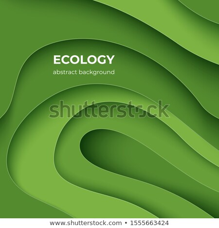Dia da terra bandeira verde papel planeta Foto stock © cienpies