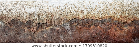 Old rusty steel metal plate cleaning Stock photo © simazoran