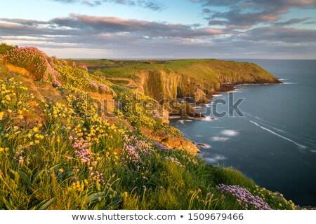 Wolken zuiden Ierland strand huis Stockfoto © doomko