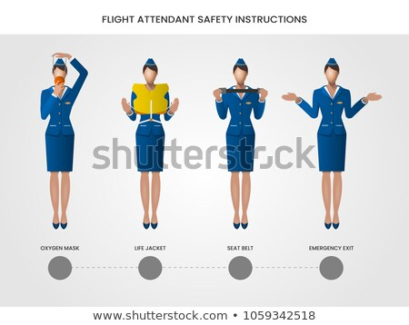 Set of flight attendant character Stock photo © bluering