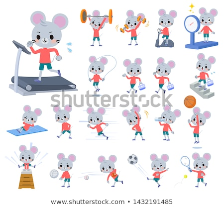 animal mouse boy_exercise Stock photo © toyotoyo