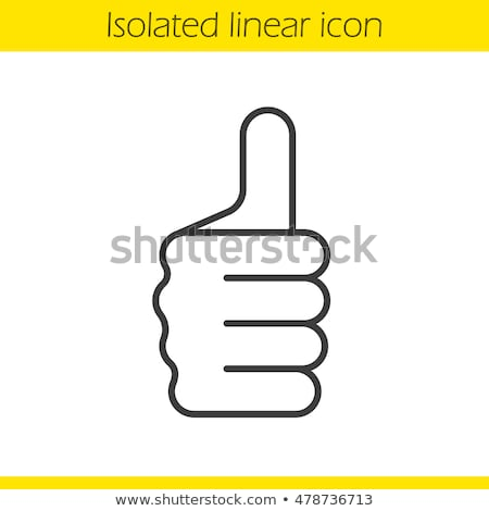 Hand Thumbs Up Gesture Thumb Out Fingers In Fist Stock photo © Krisdog